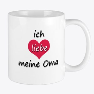 ich liebe meine Oma I love my grandma in German Mu