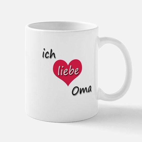ich liebe Oma I love grandma in German Mug
