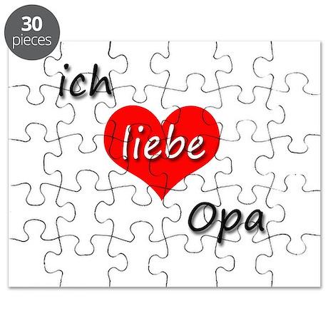 ich liebe Opa I love grandpa in German Puzzle