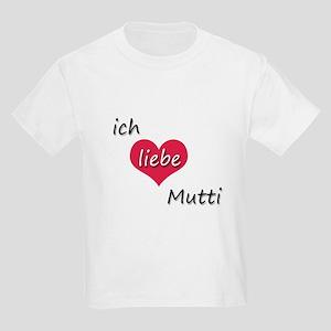 Ich liebe Mutti German I love Mommy Kids Light T-S