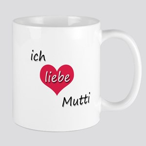 Ich liebe Mutti German I love Mommy Mug