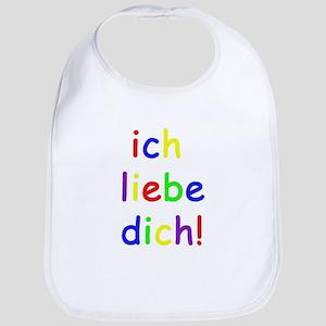 ich liebe dich! baby bib I love you in German
