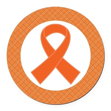 Multiple Sclerosis Or Leukemia Ribbon Round Car Ma By