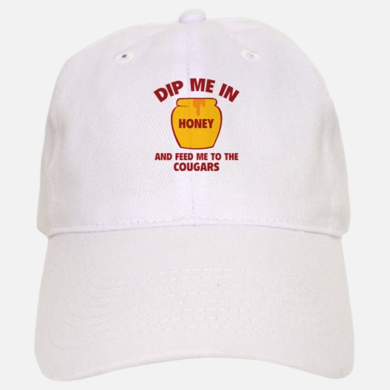 Feed Me To The Cougars Baseball Baseball Cap