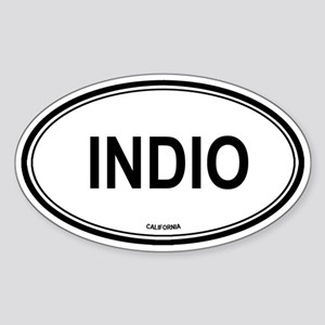Indio oval Oval Sticker