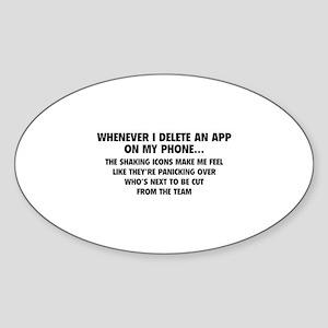 Delete An App Sticker (Oval)