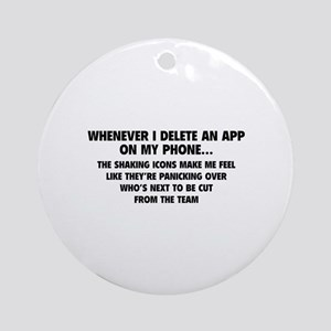 Delete An App Ornament (Round)