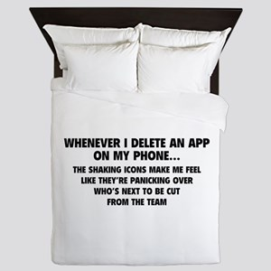 Delete An App Queen Duvet