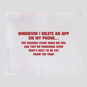 Delete An App Throw Blanket