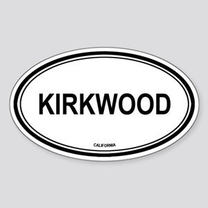 Kirkwood oval Oval Sticker