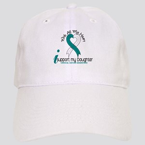 With All My Heart Cervical Cancer Cap