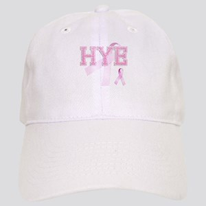 HYE initials, Pink Ribbon, Cap