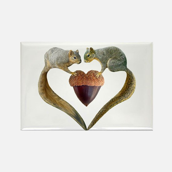 Love Squirrels Rectangle Magnet