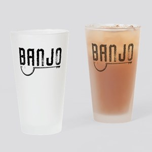 Retro Banjo Drinking Glass