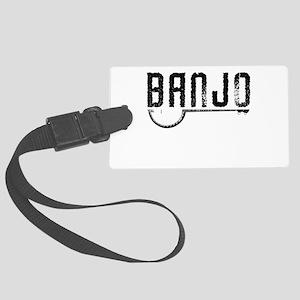 Retro Banjo Large Luggage Tag