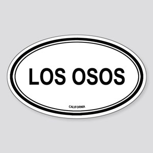 Los Osos oval Oval Sticker
