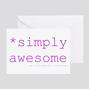 *simply awesome (fuschia) Greeting Card