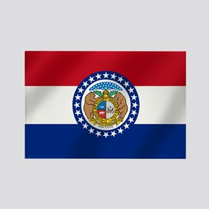Missouri State Flag Rectangle Magnet