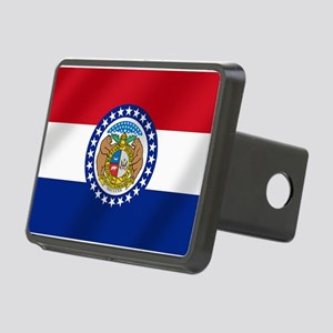 Missouri State Flag Rectangular Hitch Cover