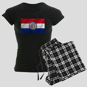 Missouri State Flag Women's Dark Pajamas