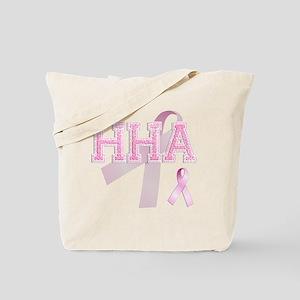 HHA initials, Pink Ribbon, Tote Bag