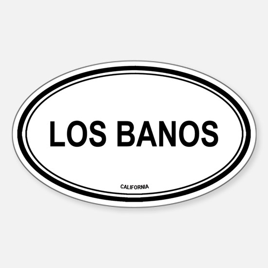 Los Banos oval Oval Decal