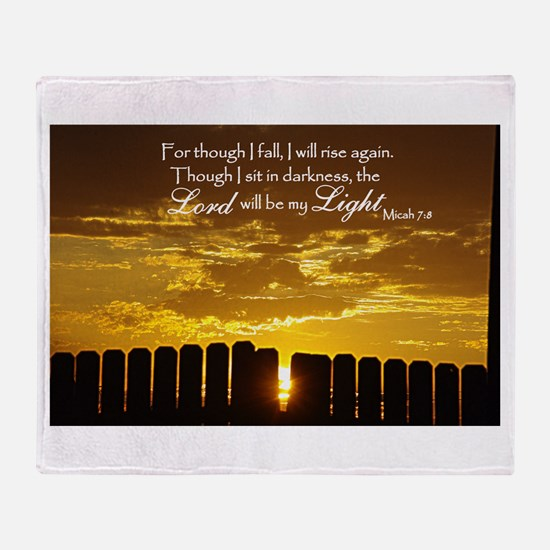 Lord will be my Light Throw Blanket