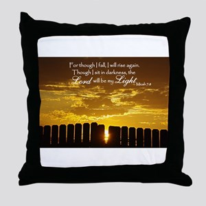 Lord will be my Light Throw Pillow