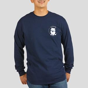 Samoyed IAAM Pocket Long Sleeve Dark T-Shirt