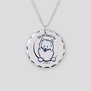 Samoyed IAAM Necklace Circle Charm