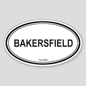 Bakersfield oval Oval Sticker