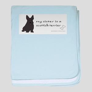 scottish terrier baby blanket