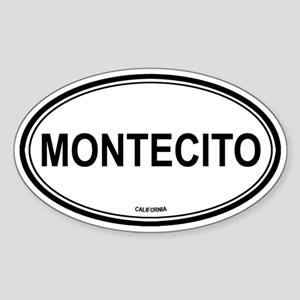 Montecito oval Oval Sticker