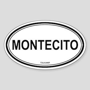 Montecito oval Oval Sticker