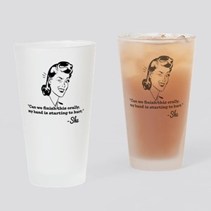 Oral Exam Drinking Glass
