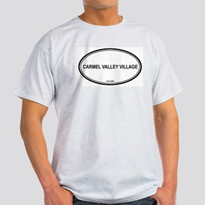 Carmel Valley Village oval Ash Grey T-Shirt