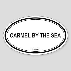 Carmel By The Sea oval Oval Sticker