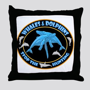 Stop Hunting Whales Throw Pillow