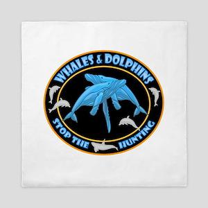 Stop Hunting Whales Queen Duvet