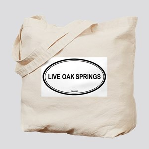 Live Oak Springs oval Tote Bag