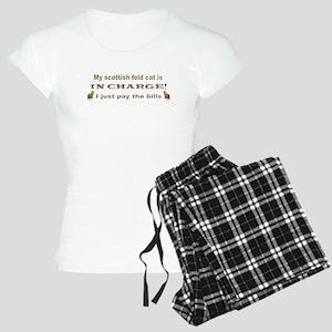 scottish fold cat Women's Light Pajamas