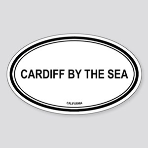Cardiff By The Sea oval Oval Sticker
