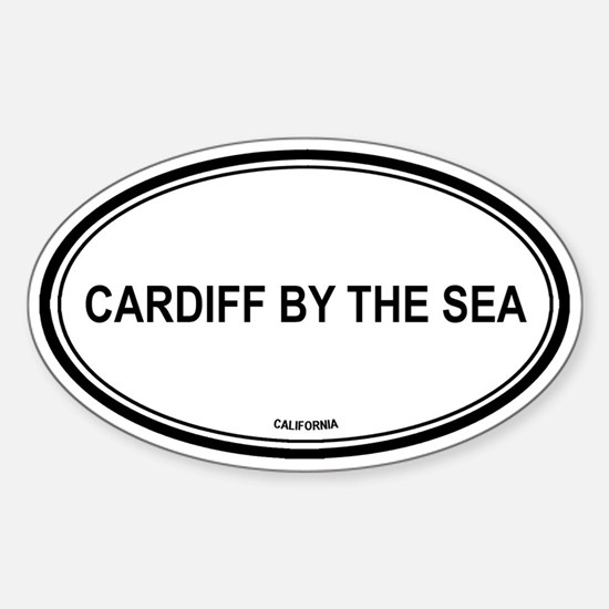 Cardiff By The Sea oval Oval Decal