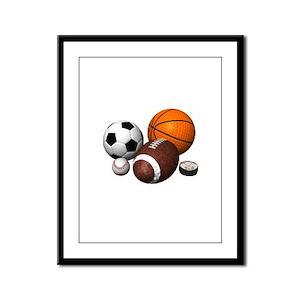 balls Framed Panel Print