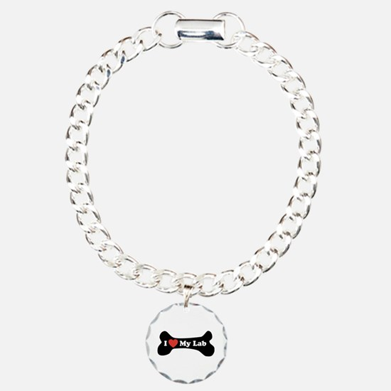 I Love My Lab - Dog Bone Bracelet