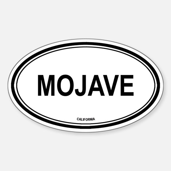 Mojave oval Oval Decal