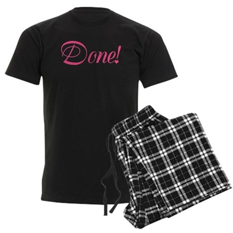 Done! - Kristen Kelly Men's Dark Pajamas
