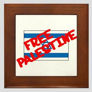 Free Palestine Framed Tile