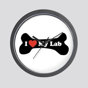 I Love My Lab - Dog Bone Wall Clock