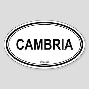 Cambria oval Oval Sticker
